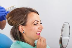 Determinação dental da máscara foto de stock