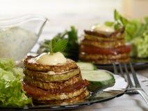 Determinada espécie de abóbora vegetal fritada Imagens de Stock Royalty Free