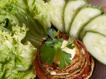 Determinada espécie de abóbora vegetal fritada Fotografia de Stock