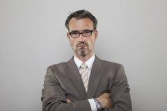 Determinated biznesowy mężczyzna Obrazy Stock