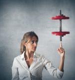 Determinated Geschäftsfrau Stockfotografie