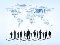 Determination of Business People. With Global Growth Stock Photography
