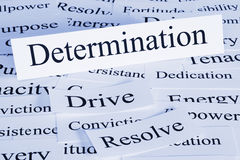 Determination Concept. A conceptual look at determination, drive, conviction, resolve Stock Photo