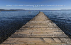 Determination is solely your responsibility. Lake Tahoe landscape and the following quote you can find inspiration from others but determination is solely your royalty free stock photography