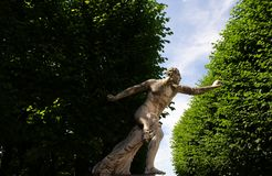 Determination.Statue in the  Mirabell Gardens in Salzburg Stock Image