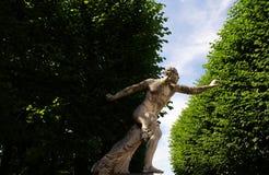 Determination.Statue in the  Mirabell Gardens in Salzburg Stock Image