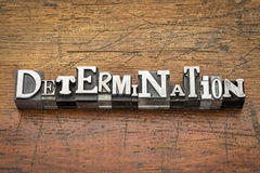 Determination word in metal type Stock Images