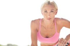 Determined blonde athlete Stock Photo