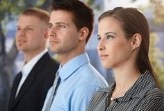 Determined business group Stock Image