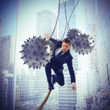 Determined businessman stock photography
