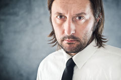 Determined Businessman portrait with copy space Royalty Free Stock Photography