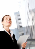 Determined businesswoman Stock Images
