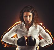 Determined businesswoman Royalty Free Stock Photo