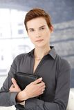 Determined businesswoman in office Royalty Free Stock Image