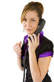 Determined Caller Royalty Free Stock Photo