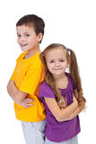 Determined and confident kids Royalty Free Stock Image