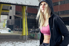 Determined fitness woman Royalty Free Stock Images