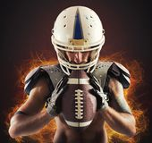 Determined football player Royalty Free Stock Photo