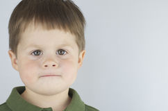 Determined Look Of Little Boy Royalty Free Stock Photos
