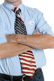 Determined Patriot Voter Royalty Free Stock Image