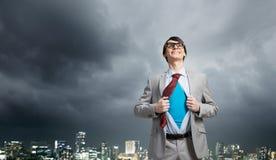 Determined super businessman Stock Photo