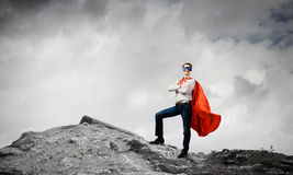 Determined superman Royalty Free Stock Images