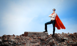 Determined superman Stock Photography