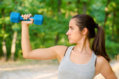 Determined to lose weight. Teen girl determined to lose weight Stock Photography