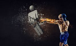 He is determined to win. Mixed media Royalty Free Stock Photos