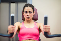 Determined woman working out Stock Image