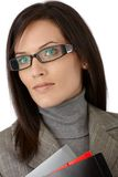 Determined young businesswoman Royalty Free Stock Photos