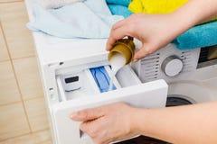 Detersivo del detersivo della lavanderia immagini stock libere da diritti