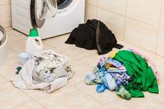 Detersivo del detersivo della lavanderia fotografie stock