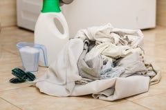 Detersivo del detersivo della lavanderia fotografie stock libere da diritti