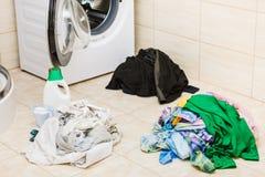 Detersivo del detersivo della lavanderia fotografia stock