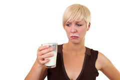 Detest milk Stock Photography
