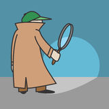 Detetive dos desenhos animados do vetor Fotos de Stock Royalty Free