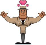 Detetive Hug dos desenhos animados ilustração royalty free
