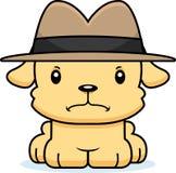 Detetive irritado Puppy dos desenhos animados Imagem de Stock