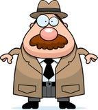 Detetive Mustache dos desenhos animados ilustração royalty free