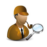Detevtive. Simple cartoon of a detectiverr Stock Photo