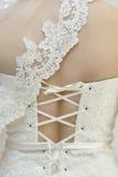 Detial bröllopsklänning Arkivbilder