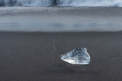 Detial view of iceberg on ocean shore. Stock Photography