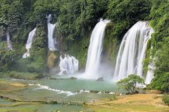 Detian瀑布在中国,亦称禁令Gioc在越南 库存图片