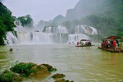 Detian Falls. Detian Waterfall is located in Detian village, Xinxian County, Chongzuo, the Guangxi Zhuang Autonomous Region, and the upper reaches of the GUI Royalty Free Stock Photos