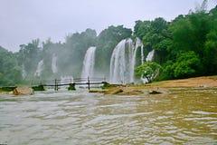 Detian Falls. Detian Waterfall is located in Detian village, Xinxian County, Chongzuo, the Guangxi Zhuang Autonomous Region, and the upper reaches of the GUI Stock Photo