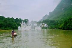 Detian Falls. Detian Waterfall is located in Detian village, Xinxian County, Chongzuo, the Guangxi Zhuang Autonomous Region, and the upper reaches of the GUI Stock Image