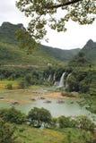 Detian Falls, frontiera fra la Cina ed il Vietnam Immagini Stock Libere da Diritti