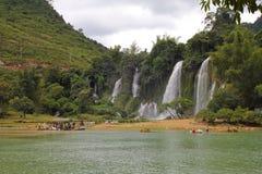 Detian Falls, frontiera fra la Cina ed il Vietnam. Fotografie Stock Libere da Diritti