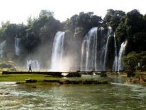 detian vattenfall Arkivfoto